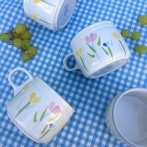 Pastel Tulip Mugs, Set of 4